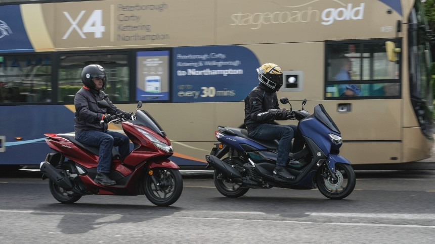 NMAX and PCX in city